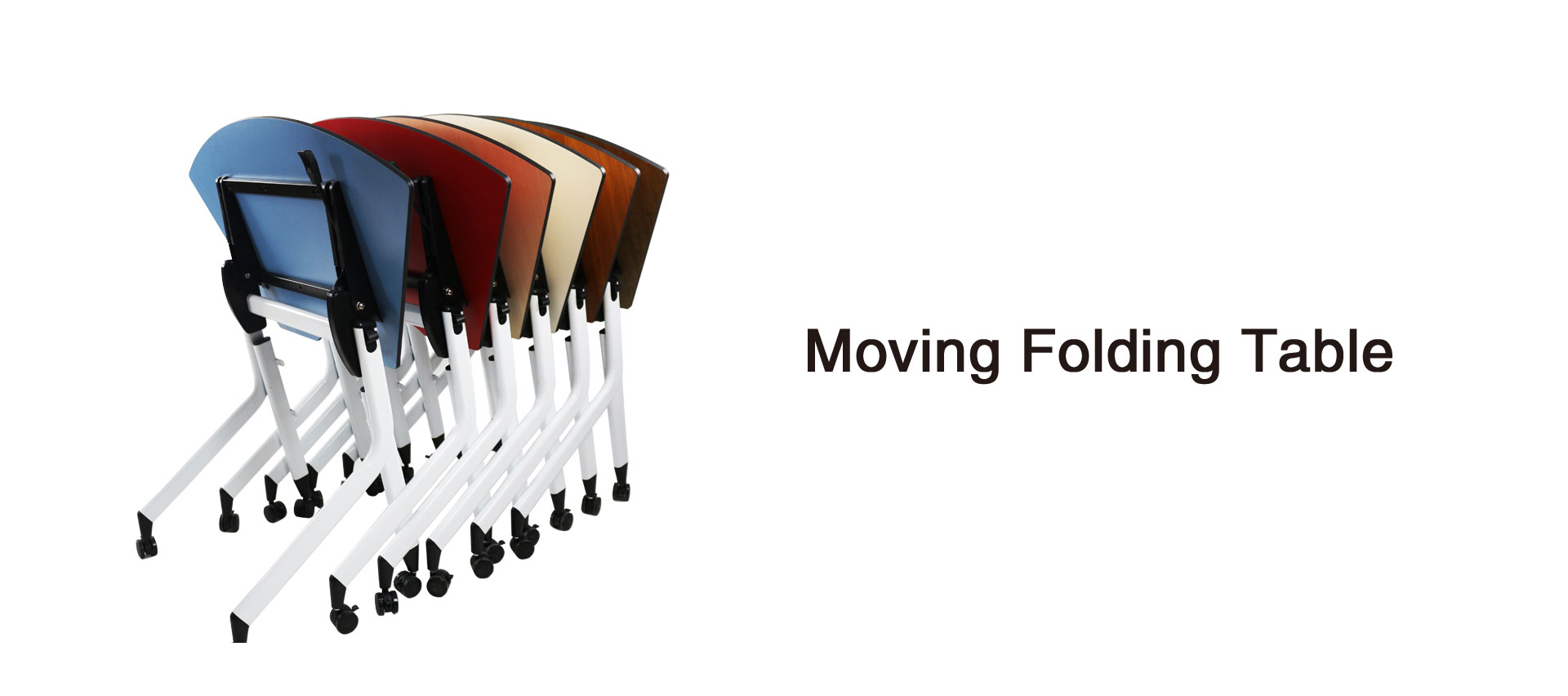 Moving folding table